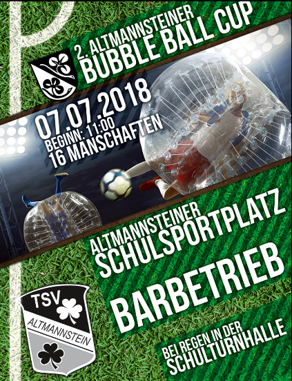 2018 Bubble Soccer 2018 Flyer PLAKAT
